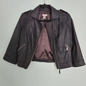 Cache Black Moto Jacket